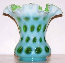 vase green main fenton art glass ebay