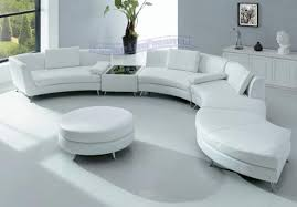 Curve Sofas Living Room Interior With Modern Sectional Sofas