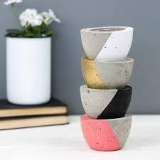 Concrete Planters Diagonal Colour Concrete Planter By Bells And Whistles Make