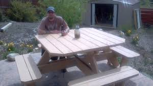 square picnic table designs plans diy free download wood burning