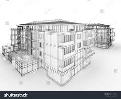 Apartment Building Design Concept Architects Computer Stock - Apartment design concept
