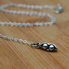 peas in a pod charm best pea pod necklace products on wanelo