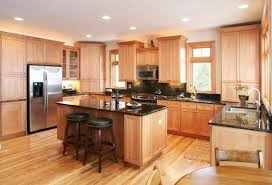 light wood kitchen cabinets with black countertops k g home remodeling ideas black granite