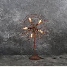 Edison Bulb Table Lamp 2017 Loft Nostalgic Steam Industrial Electronic Fan Table Lamp