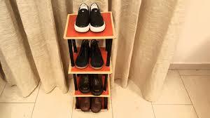 shoe organizer diy how to cardboard shoe rack shelf tutorial for kids shoes