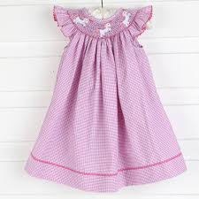 unicorn smocked dress pink and purple gingham smocked auctions