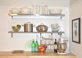 Floating Shelves Kitchen by Wall Decoration Stainless Steel Floating Shelves Throughout
