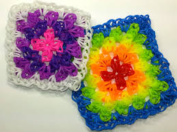 crochet bands square tutorial by feelinspiffy hook only loom bands