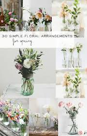 jar floral centerpieces 30 simple floral arrangements vintage jars floral