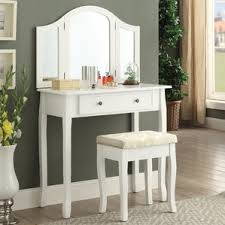 White Vanity Table With Drawers Makeup Tables And Vanities You U0027ll Love Wayfair