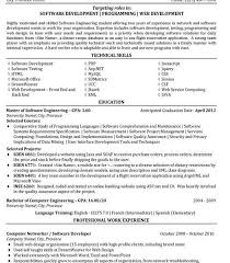 Software Developer Resume Template by Php Developer Resume Template 109 11 Best Best Software Engineer