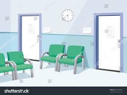modern interior doctor waiting room hospital stock vector