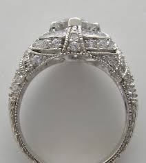 engagement ring setting or remount ring art deco style pave