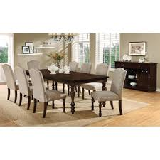 Furniture Of Kitchen Furniture Of America Anson Transitional 9 Piece Dining Set