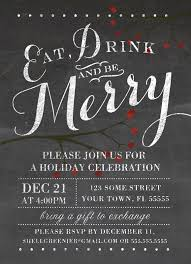 holiday party invitation template free cloveranddot com