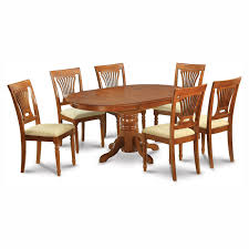 east west furniture avon 7 piece oval dining table set with