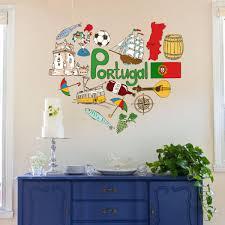 chambres d h es portugal j aime portugal illustration de mode de mariage décor vinyle étanche