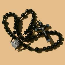 black rosary black wood rosary clear creek