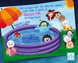 mickey mouse clubhouse birthday invites pool party invitation mickey mouse clubhouse pool party birthday