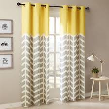 appealing mustard chevron curtains 13 with additional elegant