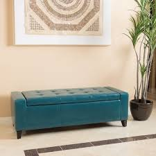 guernsey faux leather storage ottoman bench christopher knight