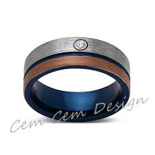 gunmetal wedding band 8mm diamond brushed gold gun metal gray and blue tungsten