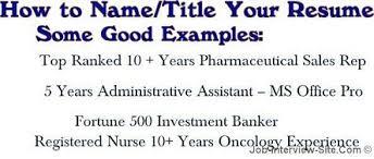 Best Resume Headline For Sales by Resume Title Example Berathen Com