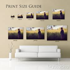 think an 8x10 is a big enough print they re not as big as you visual print size guide good to have on hand when decorating the home