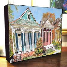 new orleans shotgun house art nola dryades street