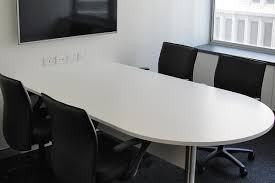 White Boardroom Table Energy Action Case Study Construction Of An Office Fitout Over