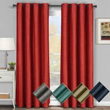 Bright Orange Curtains Galleria Room Darkening Thermal Curtain Panels Tonal Stripe Single