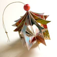 recycled card ornament totally green crafts