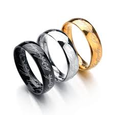steel titanium rings images Letter rings black stainless steel the lord one rings titanium jpg