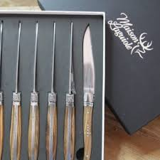 flimo lifestyle maison laguiole set 6 steak knives rosewood