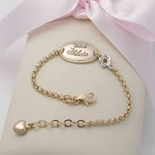 gold baby name bracelets kaiu engravable baby jewellery children s jewellery