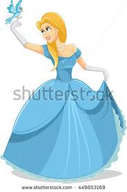 snow white princess vector character drawing stock vector