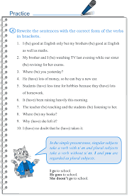 grade 5 grammar lesson 2 subject verb agreement high