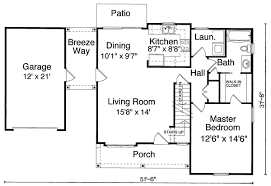 Breeze House Floor Plan Single Garage With Breezeway 39094st Architectural Designs