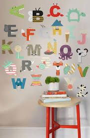Letter Wall Decals For Nursery Interactive Alphabet Childrens Wall Decal Wall Decals Nursery