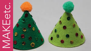 how to make a felt cone christmas tree holiday craft idea for