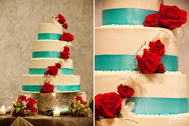 sunday sweets an elegant red white and blue wedding cake