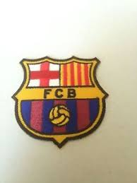 fc barcelona fcb soccer team logo patch iron on sew bag jacket