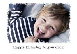 kids photo birthday card