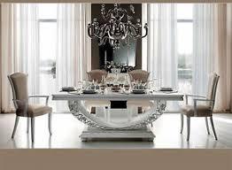 esszimmer weiß luxus esstisch weiß hochglanz esszimmer miro klassische
