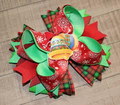 christmas hair bow holiday hair bow christmas bow holiday hair