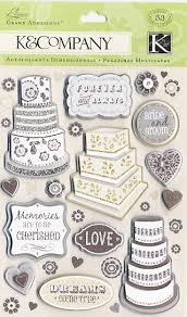 wedding scrapbook stickers k and company elegance collection grand adhesions stickers