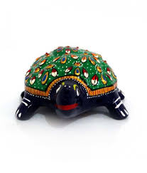 unique beautiful colorful decorative tortoise with meenakari work