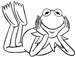 kermit frog muppets show coloring pages coloring sky