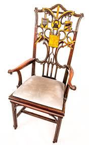 Masonic Home Decor Very Rare 18th Century Masonic Chairs Lodge Furniture Stunning