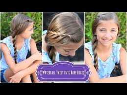 nice hairdos for the summer waterfall twist rope braid summer hairstyles youtube